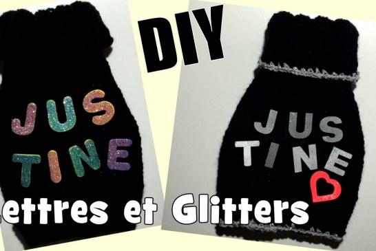 Déco Tricot: Quelques DIY avec des lettres et Glitters
