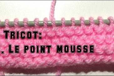 Leçon de tricot: 2. Le point mousse, ou mailles endroit