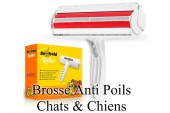 Brosse Anti Poils Chats & Chiens